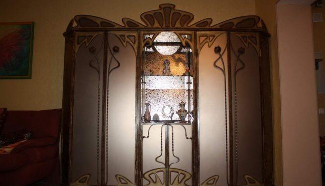 Шкаф ковка + стекло