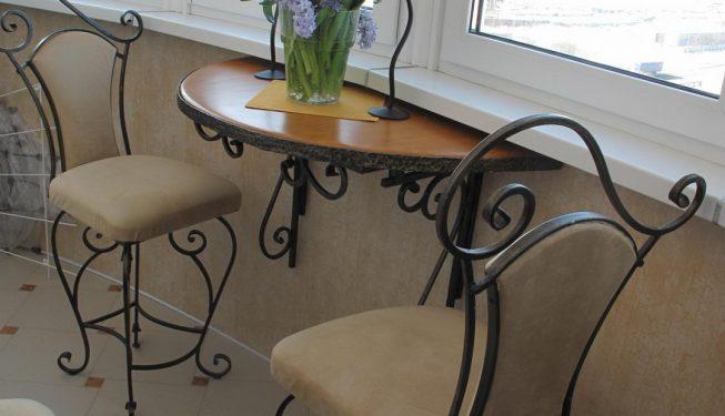Кованая мебель на лоджию